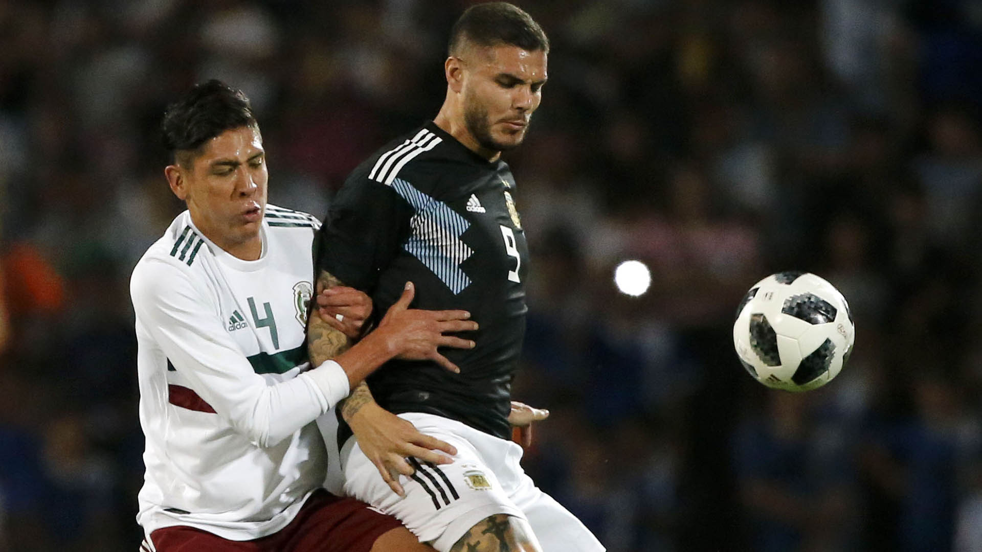 Photo during the match Argentina vs Mexico corresponding to the FIFA Date held at the Malvinas Argentinas stadium in the city of Mendoza. Mexsport