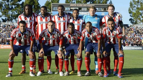 The starting line-up of Chivas USA poses for this photo before the start of an MLS soccer game against the San Jose Earthquakes at Buck Shaw Stadium on September 2, 2012 in Santa Clara, California. The Earthquakes won the game 4-0. (Photo Getty Images)