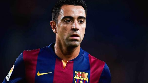 Xavi Hernandez of FC Barcelona looks on during the Joan Gamper Trophy match between FC Barcelona and Club Leon at Camp Nou on August 18, 2014 in Barcelona, Spain. (Photo by David Ramos/Getty Images)