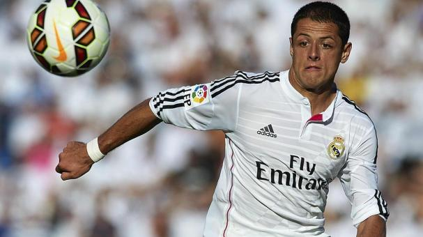 Javier 'Chicharito' Hernandez of Real Madrid in action during the La Liga match between Levante UD and Real Madrid at Ciutat de Valencia on October 18, 2014 in Valencia, Spain. (Photo by Manuel Queimadelos Alonso/Getty Images)