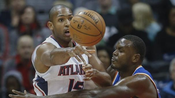 Atlanta Hawks center Al Horford (L) of the Dominican Republic in Atlanta, Georgia, USA. EFE