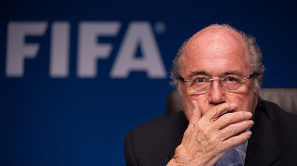FIFA President Sepp Blatter gives a press conference at the end of a meeting of the FIFA Executive Comitee on September 26, 2014. Getty Images