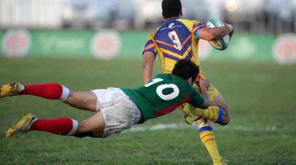Rugby match between Mexico and Colombia as part of the XXII Central American and Caribbean Games Veracruz 2014 at the Centro De Alto Rendimiento on November 29, 2014 in Veracruz, Mexico. (Getty Images)