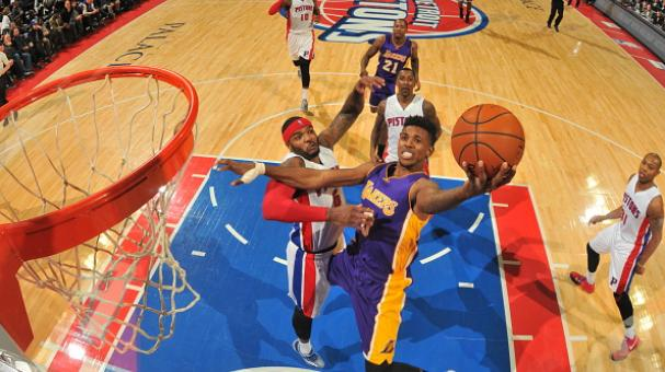 Nick Young #0 of the Los Angeles Lakers shoots against the Detroit Pistons on December 2, 2014 at The Palace of Auburn Hills in Auburn Hills, Michigan. Getty Images