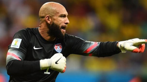 Tim Howard of the United States in action during the 2014 FIFA World Cup Brazil Round of 16 match between Belgium and the United States at Arena Fonte Nova on July 1, 2014 in Salvador, Brazil. (Getty Images)
