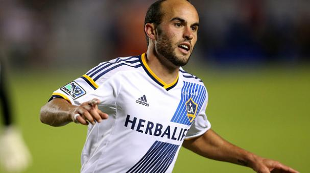 Landon Donovan #10 of the LA Galaxy celebrates after scoring his second goal of the match, against Real Salt Lake in Leg 2 of the Western Conference Semifinals at StubHub Center on November 9, 2014 in Los Angeles, California. Getty Images