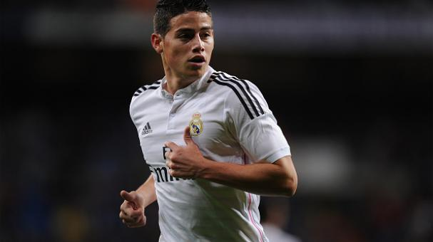 James Rodríguez, sencible baja para Real Madrid. Foto Getty Images