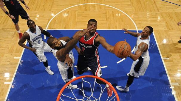 John Wall #2 of the Washington Wizards shoots the ball against the Orlando Magic during the game on December 10, 2014 at Amway Center in Orlando, Florida. Getty Images