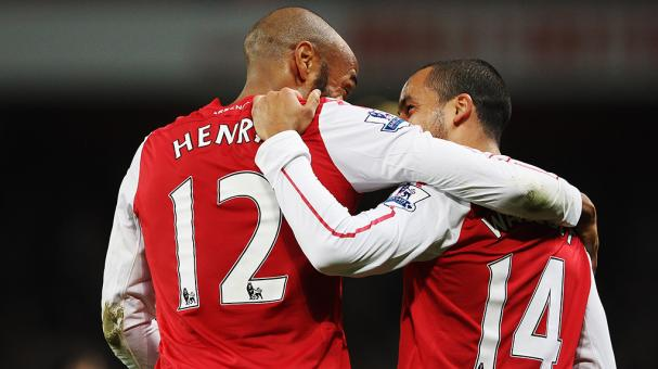Theo Walcott y Thierry Henry, Arsenal