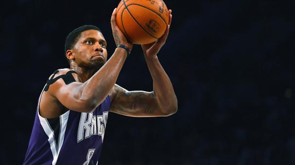 Rudy Gay #8 of the Sacramento Kings shoots a free throw during a game. Getty Images