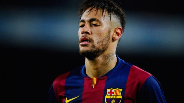 Neymar of FC Barcelona looks on during the Copa del Rey Semi-Final first leg match between FC Barcelona and Villarreal CF at Camp Nou on February 11, 2015 in Barcelona, Spain. (Photo by David Ramos/Getty Images)