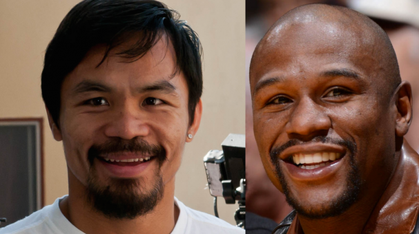 Manny Pacquiao y Floyd Mayweather Jr. Foto: Getty Images