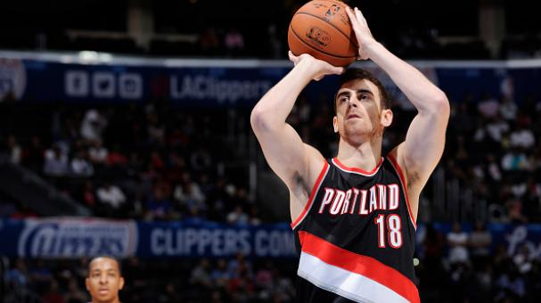 Victor Claver #18 of the Portland Trail Blazers shoots against the Los Angeles Clippers during the game on October 24, 2014 at the Staples Center in Los Angeles, California. Getty Images