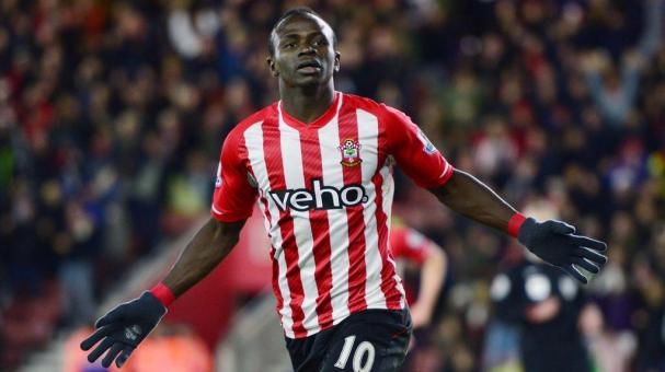 Sadio Mane of Southampton celebrates during the Barclays Premier League match between Southampton and Crystal Palace at St Mary's Stadium on March 3, 2015 in Southampton, England. (Getty Images)