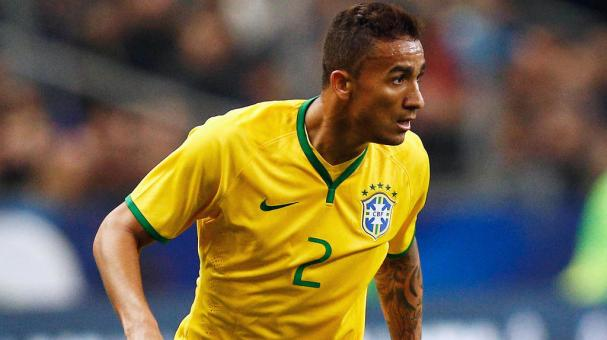 Danilo of Brazil in action during the International Friendly match between France and Brazil at the Stade de France on March 26, 2015 in Paris, France. (Photo by Dean Mouhtaropoulos/Getty Images)