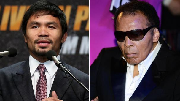 Manny Pacquiao y Muhammad Ali. Fotos: Getty Images
