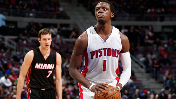 Reggie Jackson #1 of the Detroit Pistons shoots against the Miami Heat during the game on April 4, 2015 at The Palace of Auburn Hills in Auburn Hills, Michigan. Getty Images