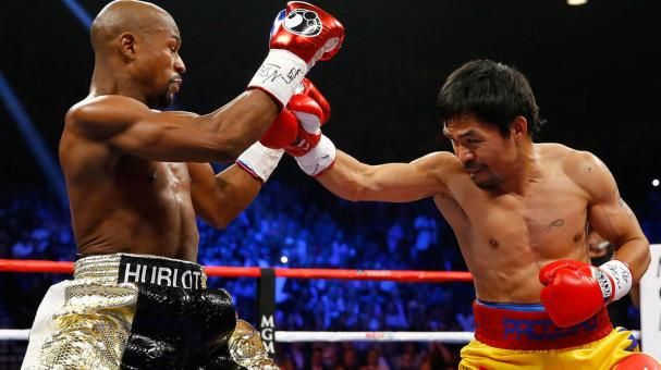 Floyd Mayweather Jr y Manny Pacquiao. Foto: Getty Images