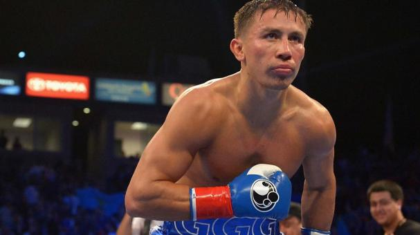 Gennady Gennadyevich Golovkin of Kazakhstan celebrates after beating Marco Antonio Rubio of Mexico in two rounds of the WBC Interim Middleweight Title bout at StubHub Center on October 18, 2014 in Los Angeles, California. (Getty Images)
