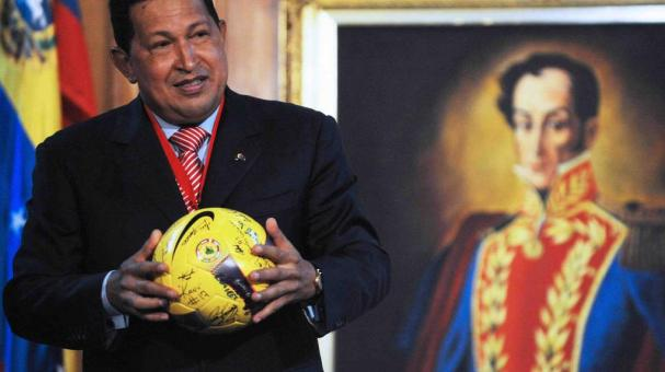 Bolivia le dedica estadio de fútbol al legendario Hugo Chávez. Foto: Getty Images