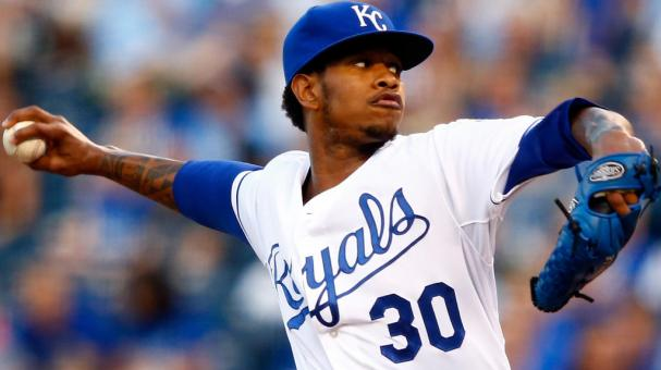 Yordano Ventura #30 of the Kansas City Royals pitches during the game against the Detroit Tigers at Kauffman Stadium on September 2, 2015 in Kansas City, Missouri. (Getty Images)