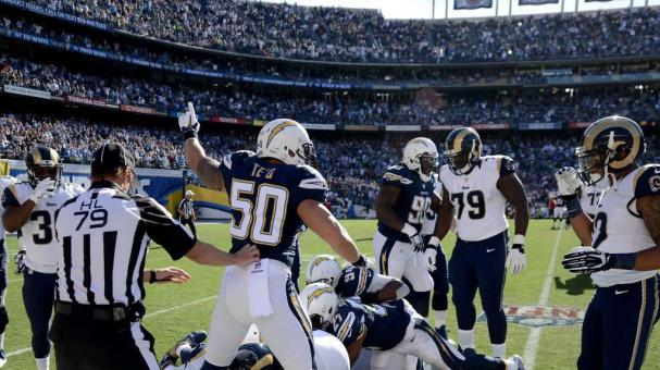 Saint Louis Rams / San Diego Chargers. Foto: Getty Images