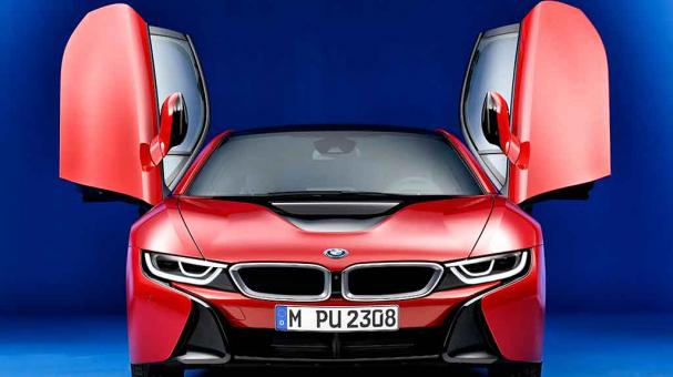 BMW i8 Protonic Red Edition debut en Auto Show Ginebra