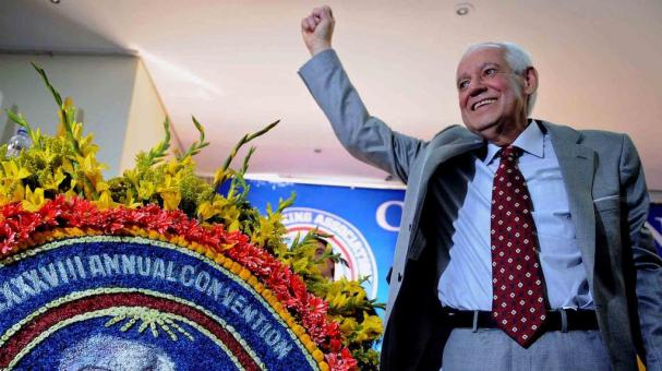 President of the World Boxing Association's (WBA), Venezuelan Gilberto Jesus Mendoza, poses for pictures during the 88th WBA Annual Convention, in Medellin, Antioquia department, Colombia, on November 17, 2009.  (RAUL ARBOLEDA/AFP/Getty Images)