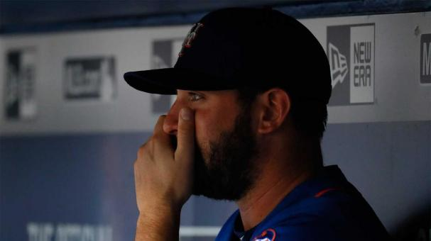 ATLANTA, GA - JUNE 23: Matt Harvey #33 of the New York Mets looks on in the dugout during the second inning against the Atlanta Braves at Turner Field on June 23, 2016 in Atlanta, Georgia. (Photo by Kevin C. Cox/Getty Images)