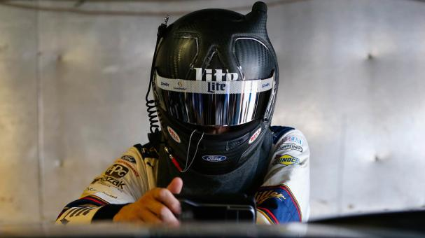 Brad Keselowski, of the #2 Miller Lite Ford, stands during practice for the Monster Energy NASCAR Cup Series Pure Michigan 400 at Michigan International Speedway on August 12, 2017 in Brooklyn, Michigan. (Getty Images)