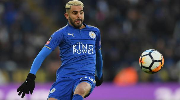 Riyad Mahrez of Leicester City controls the ball during the the Emirates FA Cup Quarter Final match between Leicester City and Chelsea at The King Power Stadium on March 18, 2018 in Leicester, England. (Getty Images)