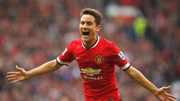 Ander Herrera, con Manchester United. Getty Images