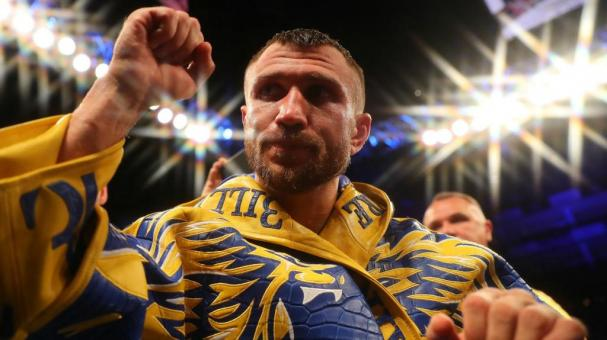 LONDON, ENGLAND - AUGUST 31: Vasily Lomachenko exits the arena after winning the WBA, WBO, WBC Lightweight World Title contest between Vasily Lomachenko and Luke Campbell at The O2 Arena on August 31, 2019 in London, England. (Getty Images)