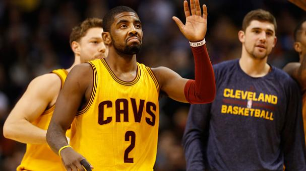 Kyrie Irving #2 of the Cleveland Cavaliers high fives teammates during the NBA game against the Phoenix Suns at US Airways Center on January 13, 2015 in Phoenix, Arizona. Getty Images