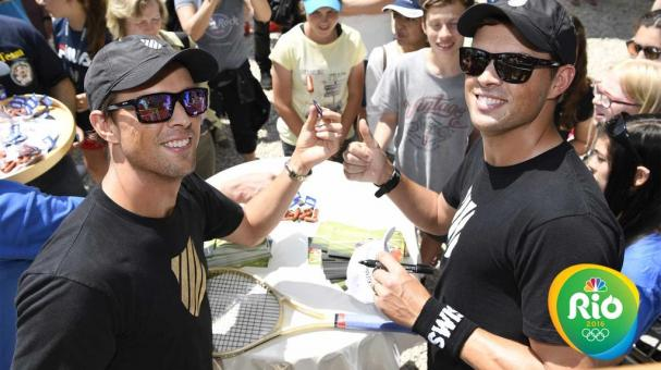 STUTTGART, GERMANY - JUNE0 6: Mike and Bob Bryan of the USA sign autographs and meet fans at the 2016 Mercedes Cup on June 6, 2016 in Stuttgart, Germany. (Photo by Peter Staples/ATP World Tour/Getty Images)