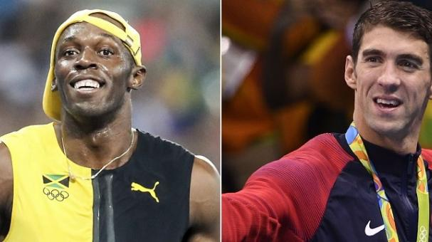 Usain Bolt y Michael Phelps