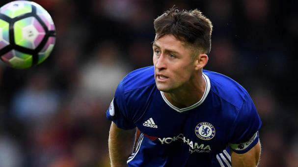 Gary Cahill of Chelsea in action during the Premier League match between Hull City and Chelsea at KCOM Stadium on October 1, 2016 in Hull, England. (Photo by Laurence Griffiths/Getty Images)