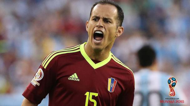 Alejandro Guerra #15 of Venezuela reacts in the second half during the 2016 Copa America Centenario quarterfinal match against Venezuela at Gillette Stadium on June 18, 2016 in Foxboro, Massachusetts. (Photo by Jim Rogash/Getty Images)