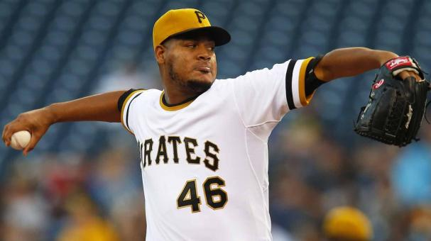 Ivan Nova #46 of the Pittsburgh Pirates pitches in the first inning during the game against the Milwaukee Brewers at PNC Park on September 3, 2016 in Pittsburgh, Pennsylvania. (Photo by Justin K. Aller/Getty Images)