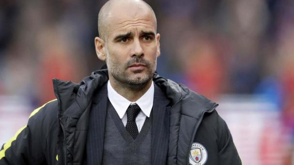 Manchester City's head coach Pep Guardiola. AP Photo