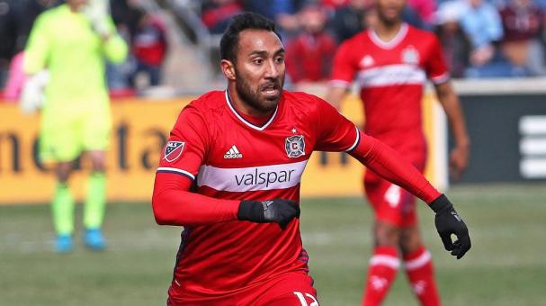 Arturo Alvarez #12 of the Chicago Fire advances the ball at Toyota Park on March 6, 2016 in Bridgeview, Illinois. (Photo by Jonathan Daniel/Getty Images)
