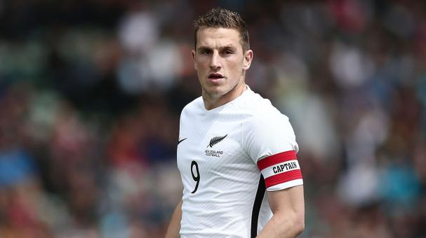 Chris Wood of New Zealand looks on during the 2018 FIFA World Cup Qualifier match against New Caledonia at QBE Stadium on November 12, 2016 in Auckland, New Zealand. (Getty Images)