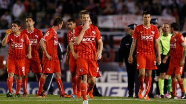 Players of Independiente leave the field in Buenos Aires, Argentina. (Getty Images)