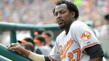 Vladimir Guerrero #27 of the Baltimore Orioles at Comerica Park on September 25, 2011 in Detroit, Michigan. Getty Images