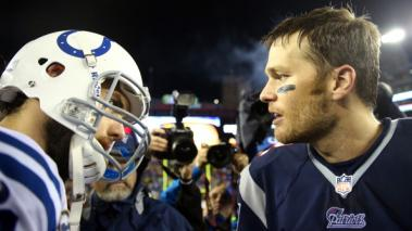 New England Patriots, Indianapolis Colts, Andrew Luck, Tom Brady, Fútbol Americano