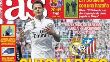 Chicharito sale hoy en portada del diario AS