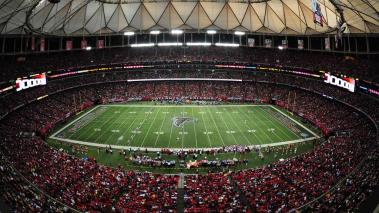 A general view of the Georgia Dome during the game between the Atlanta Falcons and the Chicago Bears on October 12, 2014 in Atlanta, Georgia. (Photo by Scott Cunningham/Getty Images)
