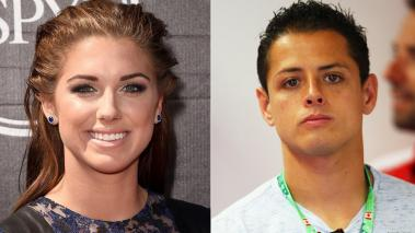 "Alex Morgan y Javier ""Chicharito"" Hernández. Foto: Getty Images"