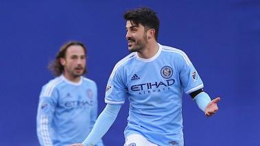 David Villa #7 of New York City FC at Yankee Stadium on March 15, 2015 in the Bronx borough of New York City. (Getty Images)