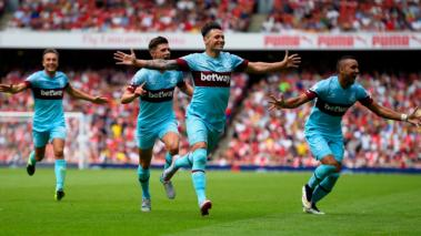 El West Ham asalta el Emirates Stadium y vence al Arsenal